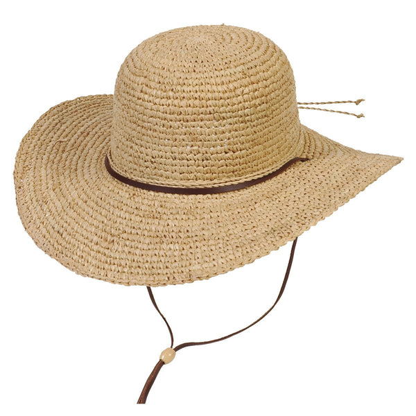 Conner Hats Floppy Hats Natural / One Size Tuscany Wide Brim Ladies Summer Straw Hat