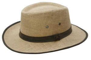 Conner Hats Gamblers Camel / Small Hemp Sun Shade Hat