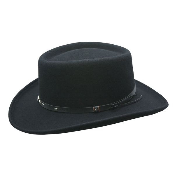 Conner Hats Gamblers Black / Small Quincy Waterproof Wool Gambler