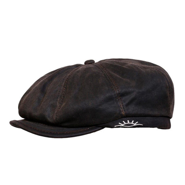 Conner Hats Newsboy/Flat Caps Brown / Small Brent Weathered Newsboy Cap