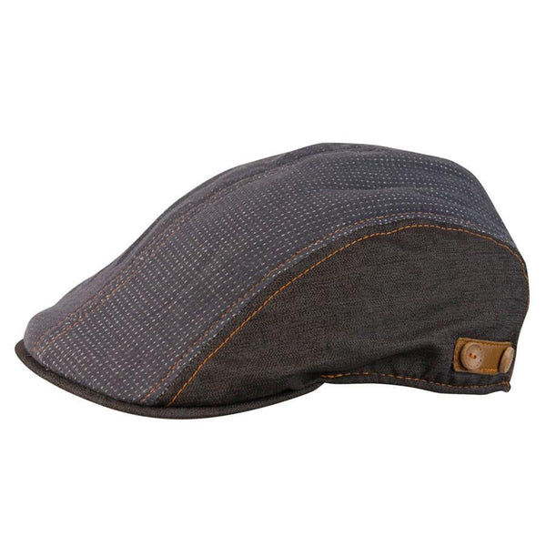 Conner Hats Newsboy/Flat Caps Brown/Taupe / Small Sinclair Gentleman's Newsboy Cap