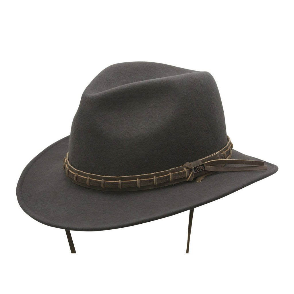 Conner Hats Outback Hats Brown / Small Hat Country Wool Outdoor Hat