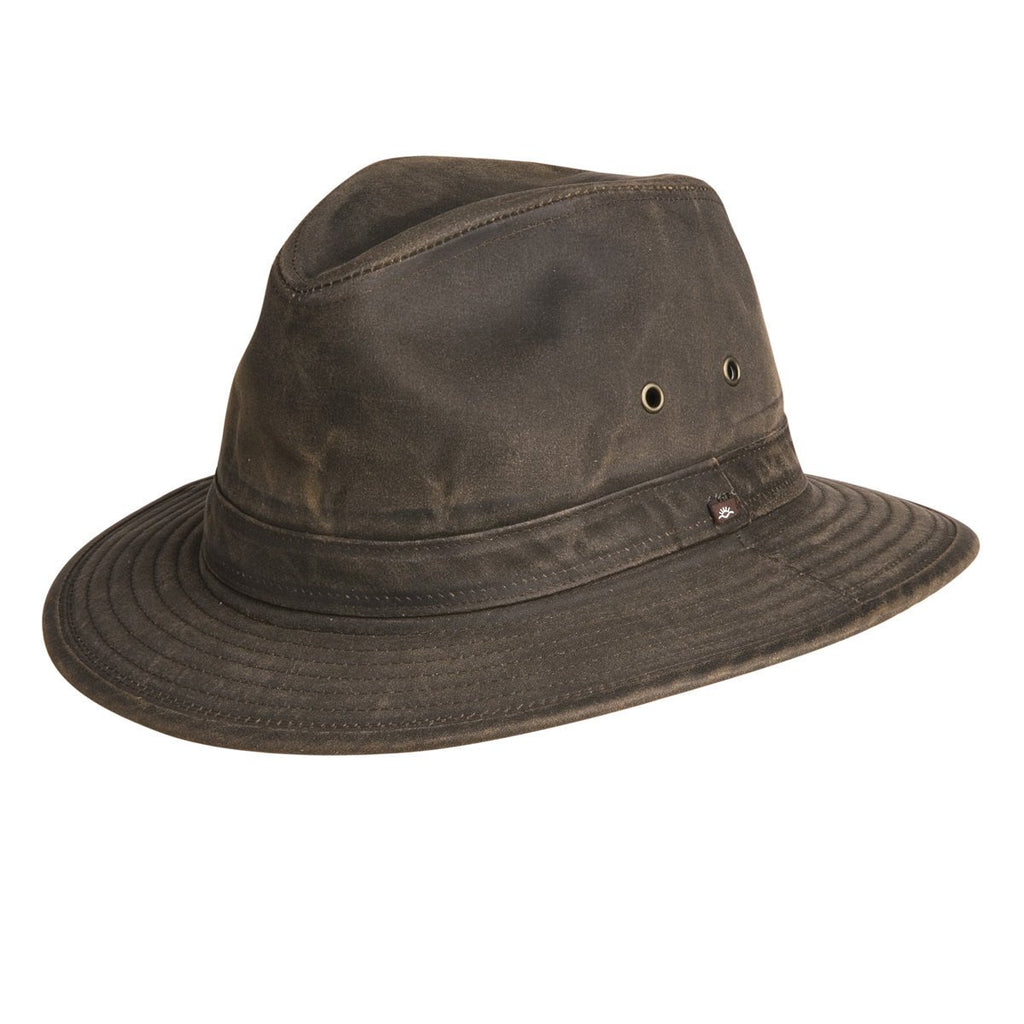 Conner Hats Outback Hats Brown / Small Indy Jones Mens Water Resistant Cotton Hat