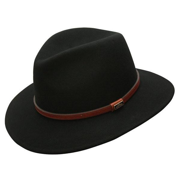 Conner Hats Outback Hats Black / Small Jackeroo Crushable Wool Hat