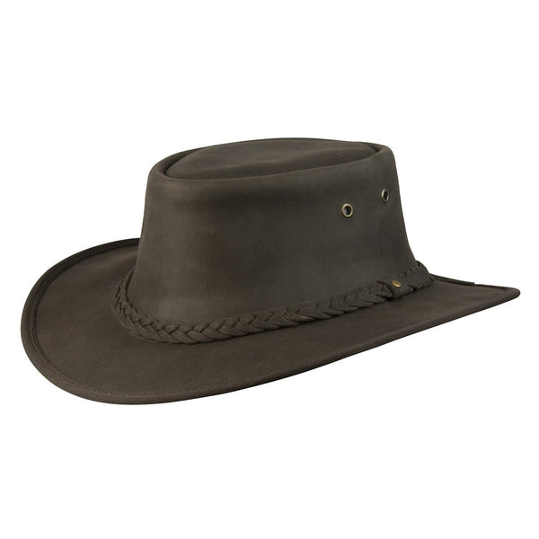 Conner Hats Outback Hats Brown / Small Lone Wolf Crushable Leather Hat