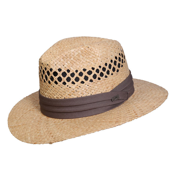 Conner Hats Safari Hats Natural / Small/Medium Beach and Tennis Organic Raffia Hat