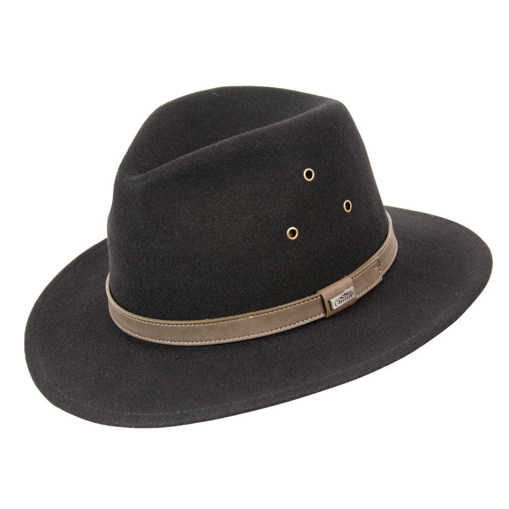 Conner Hats Safari Hats Black / Small Breckenridge Crushable Wool Hat