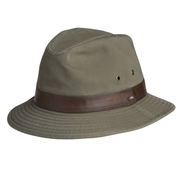 Conner Hats Safari Hats Olive / Small Larimer Mens Cotton Safari Hat