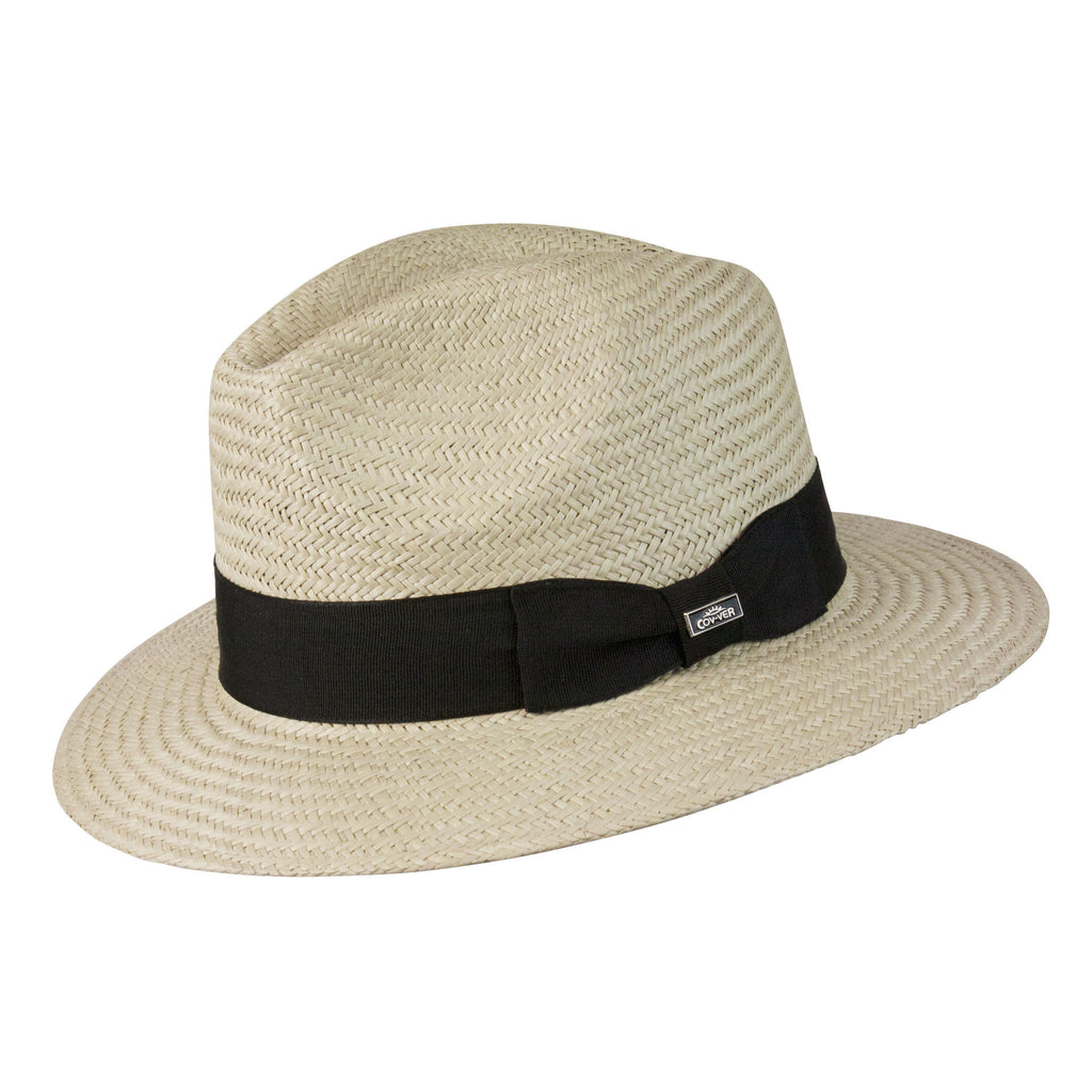 Conner Hats Safari Hats Natural / Small/Medium Panama Vibe Safari Fedora