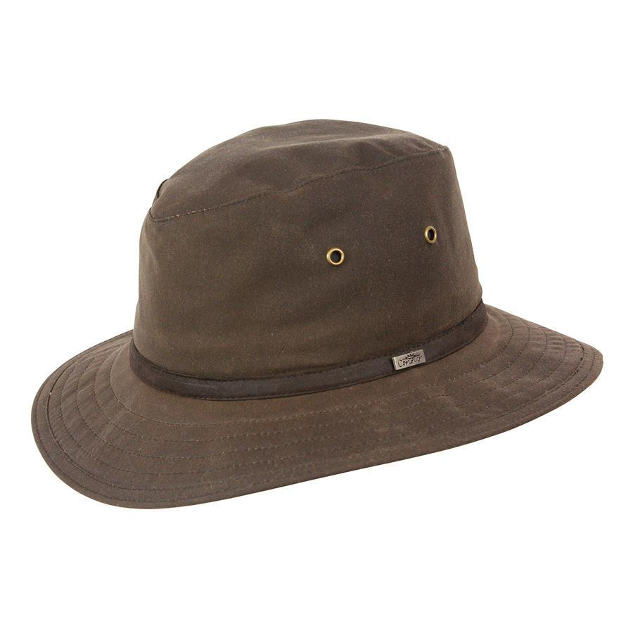 a6cf9190473 Conner Hats Safari Hats Brown   Small Portland Waxed Cotton Rain Hat
