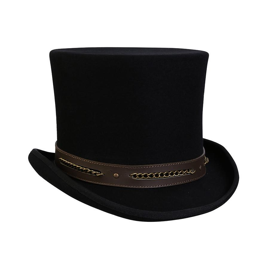 Conner Hats Steampunk Hats Black / Small Chain Link Steampunk Top Hat