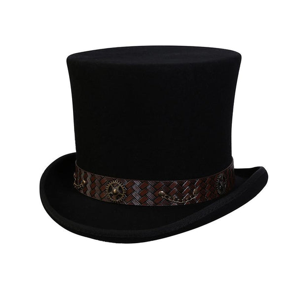 Conner Hats Steampunk Hats Black / Small Mad Hatter Steampunk Top Hat