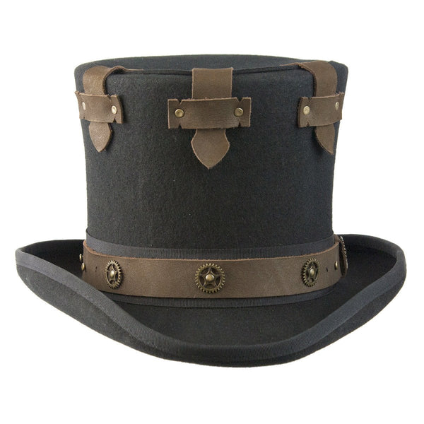 Conner Hats Steampunk Hats Black / Small Steampunk Secret Top Hat