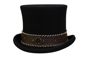 Conner Hats Steampunk Hats Black / Small The Grinder Steampunk Top Hat