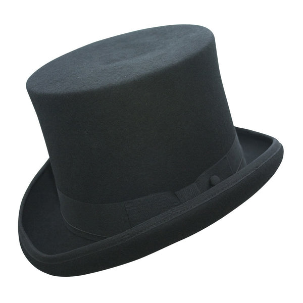 Conner Hats Top Hats Black / Small Edward Australian Wool Top Hat