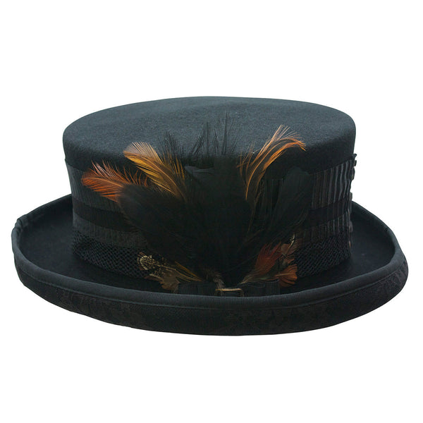 Conner Hats Top Hats Black / One Size London Lace Victorian Ladies Hat