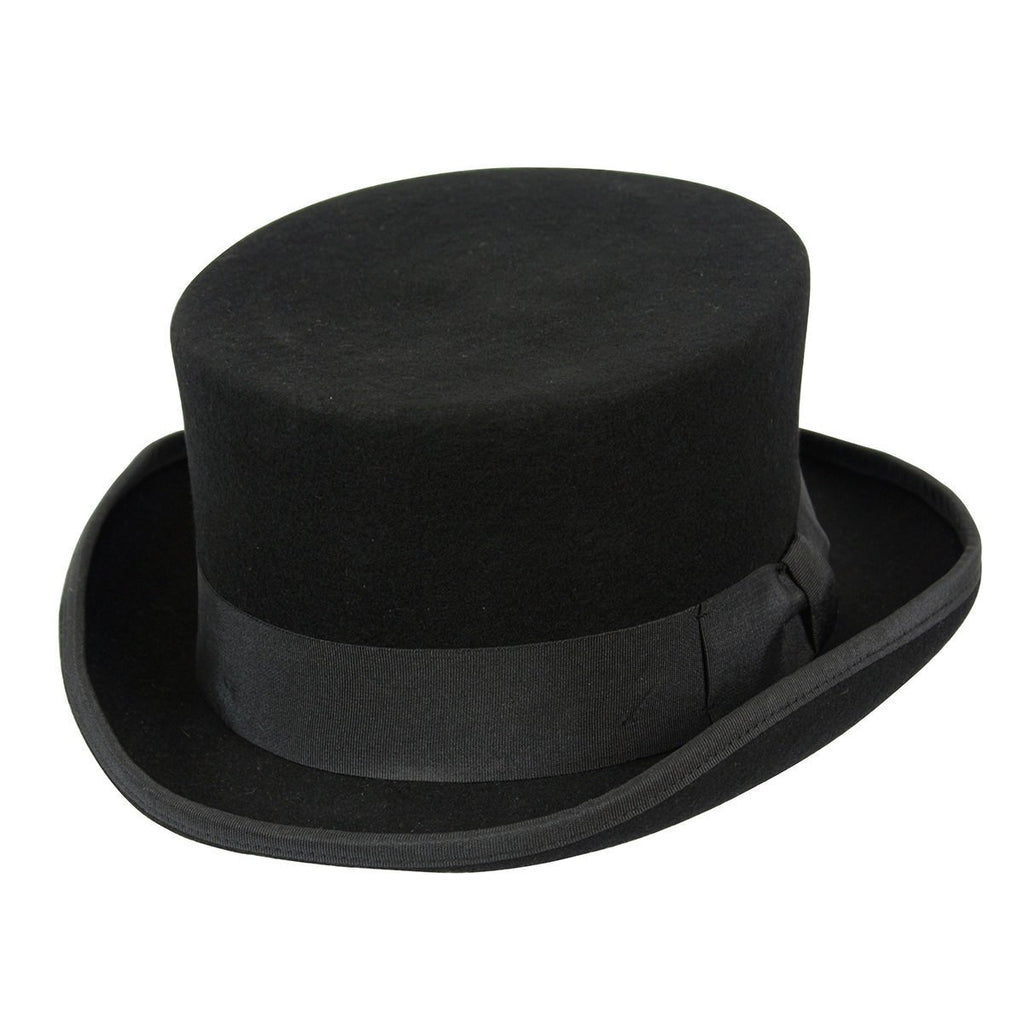 Conner Hats Top Hats Black / Small Low Rise Wool Top Hat
