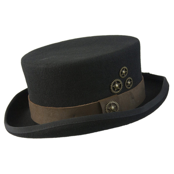 Conner Hats Top Hats Black / Small Time Travel Steampunk Top Hat