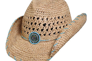 Conner Hats Western Hats Natural / One Size Abaco Western Crocheted Hat