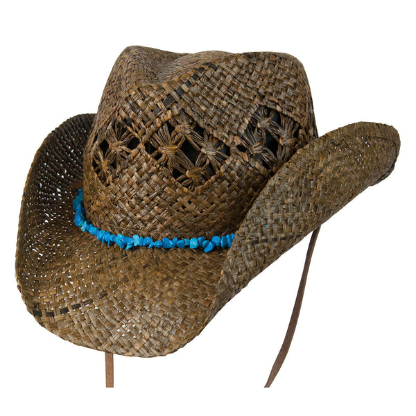 Conner Hats Western Hats Dark Brown / One Size Cascade Mountain Organic Raffia Western Hat