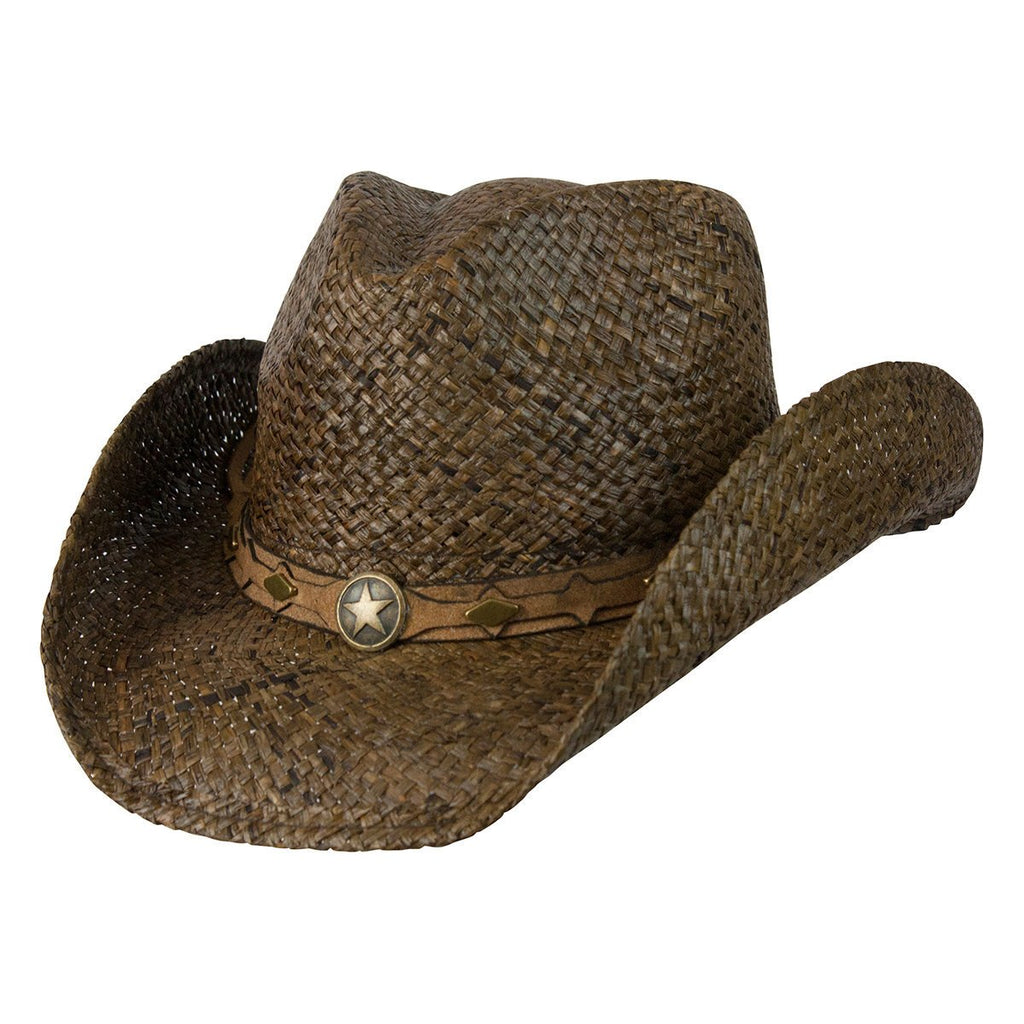 Conner Hats Western Hats Dark Brown / Small/Medium Country Western Raffia Shapeable Hat