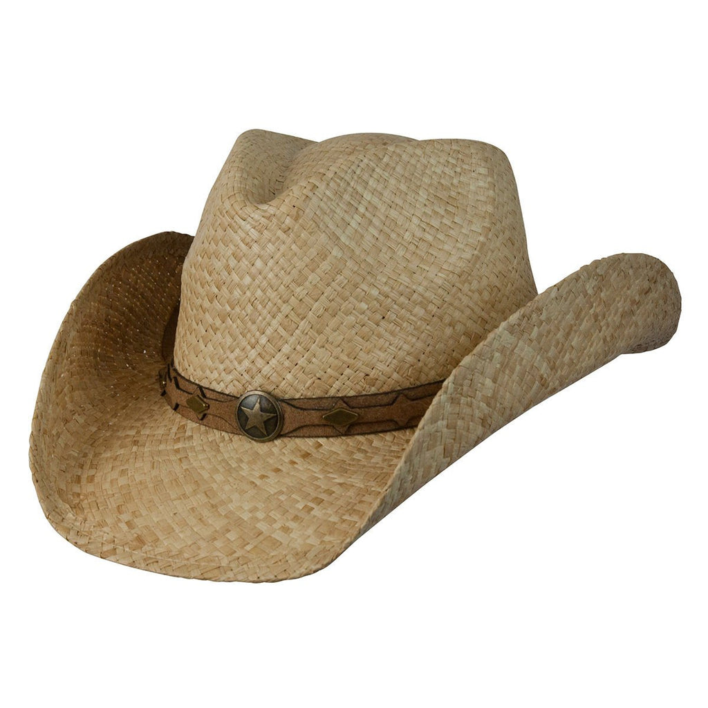 Conner Hats Western Hats Natural / Small/Medium Country Western Raffia Shapeable Hat