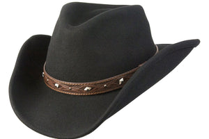 Conner Hats Western Hats Black / Small Dakota Western Shapeable Wool Hat