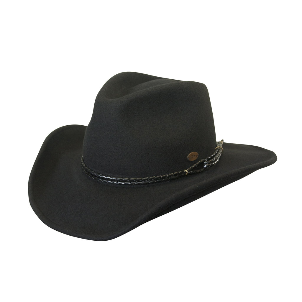 Conner Hats Western Hats Black / Small Outlaw Western Shapeable Wool Hat