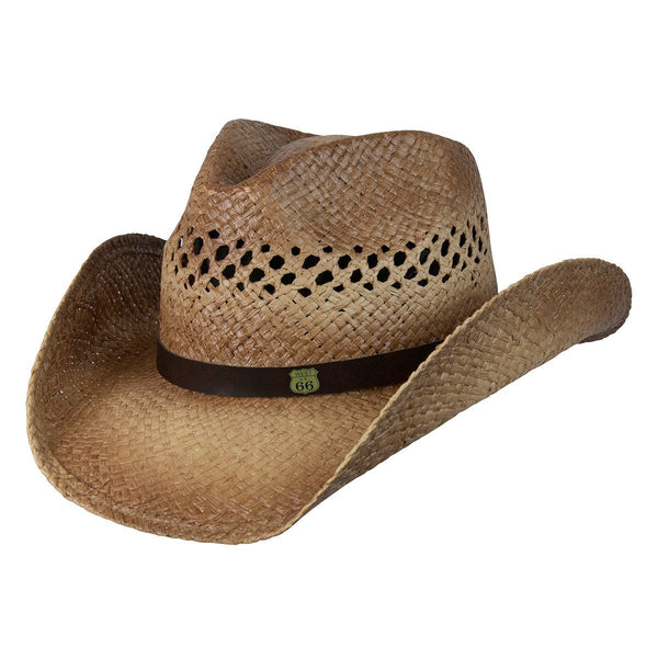 Conner Hats Western Hats Caramel   Small Medium Rt 66 Cowboy Raffia Hat ce1b024c7e6