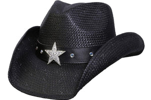 Conner Hats Western Hats Black / One Size Silver Star Western Toyo Hat