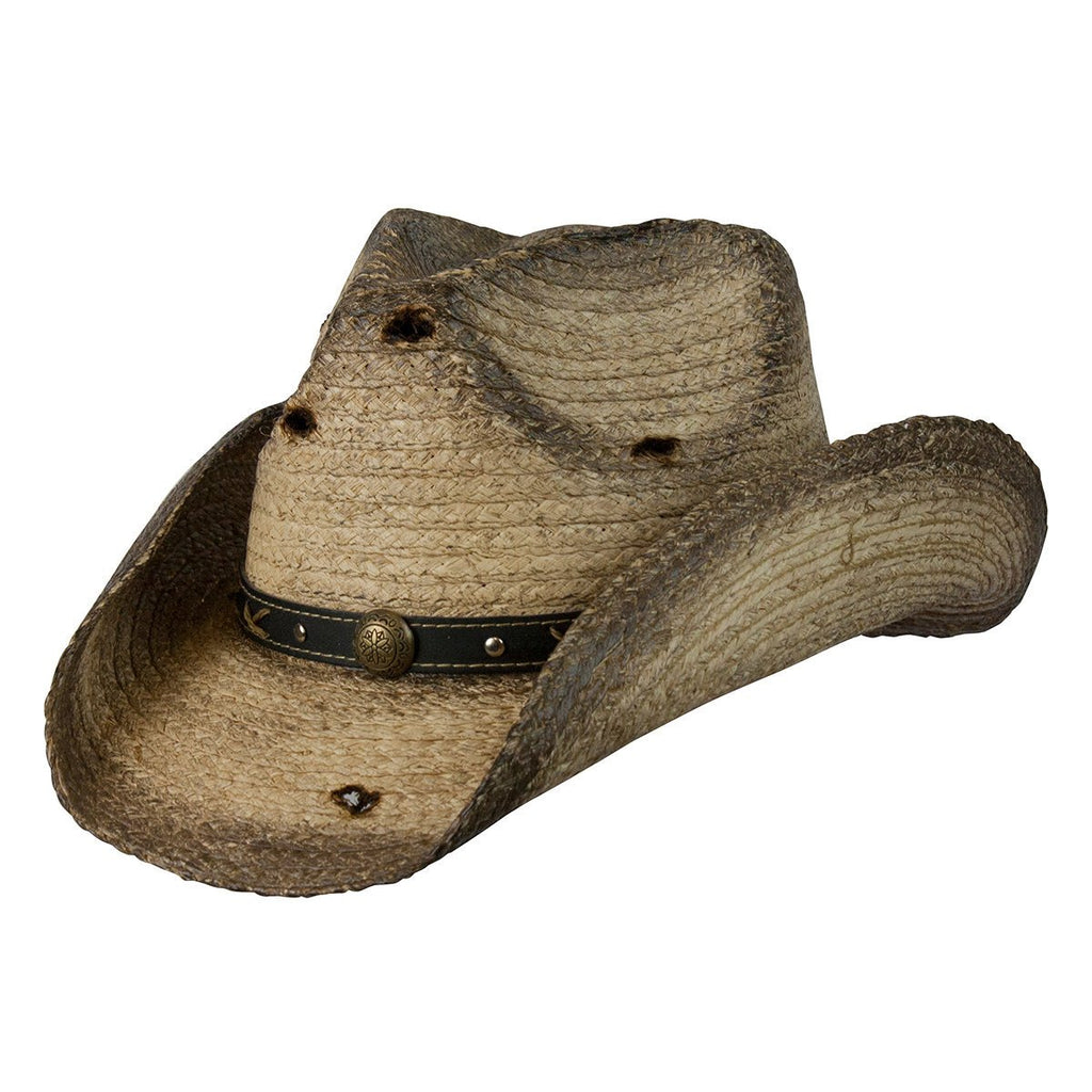 Conner Hats Western Hats Coffee / Small/Medium Six Shooter Organic Raffia Western Hat