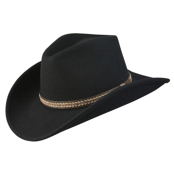 Conner Hats Western Hats Black / Small Stormy Canyon Shapeable Western Wool Hat