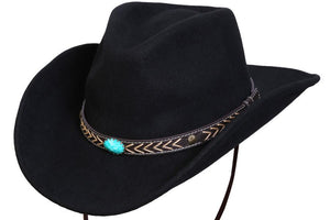 Conner Hats Western Hats Black / Large White Cliffs Western Wool Hat