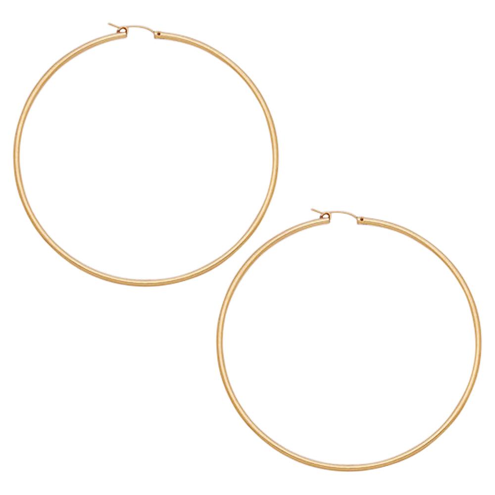 65mm Gold Filled Hoops