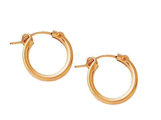 Gold Filled Hoops - 15mm