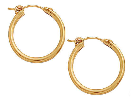 Gold Filled Hoops - 22mm