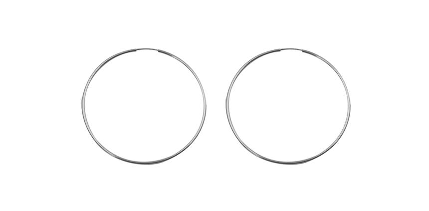 Silver Endless Hoop Earrings