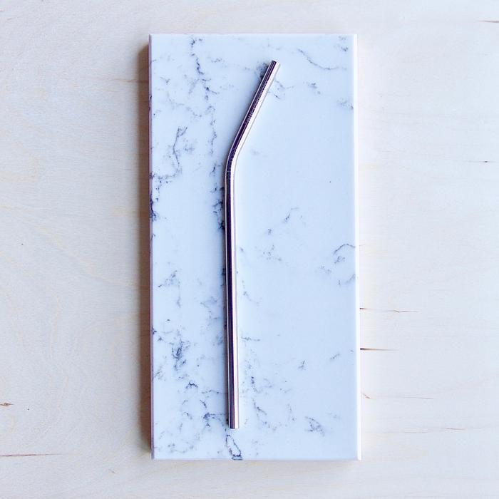 Silver Reusable Straw