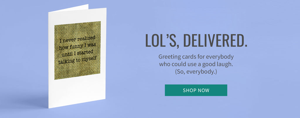 Funny, sarcastic polka dot greeting cards