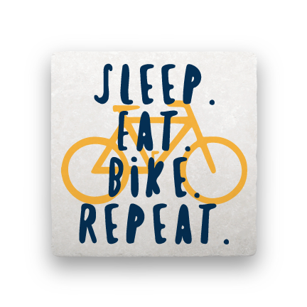 Sleep Eat Bike Repeat-Bicycles-Paisley & Parsley-Coaster