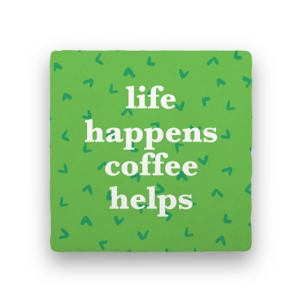 Coffee Helps-Coffee Talk-Paisley & Parsley-Coaster