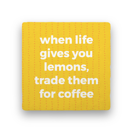 Lemons-Coffee Talk-Paisley & Parsley-Coaster