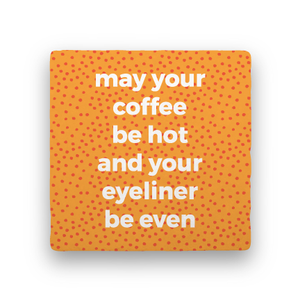 Eyeliner-Coffee Talk-Paisley & Parsley-Coaster