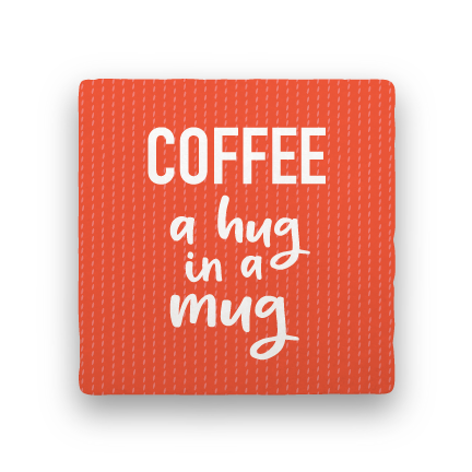 Hug in a Mug-Coffee Talk-Paisley & Parsley-Coaster