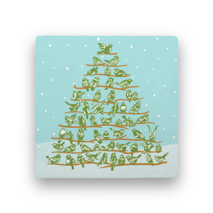 Bird Tree-Holiday-Paisley & Parsley-Coaster
