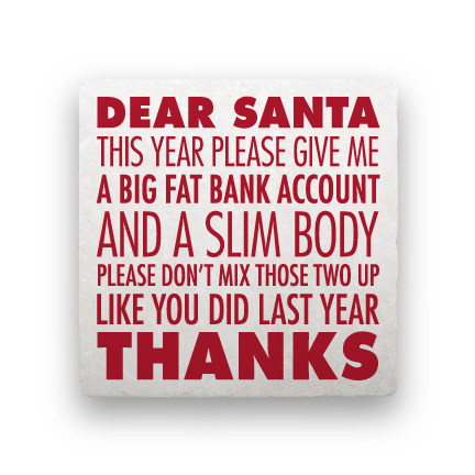 Dear Santa-Holiday-Paisley & Parsley-Coaster