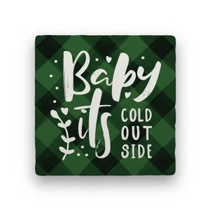 Baby It's Cold - Green-Holiday-Paisley & Parsley-Coaster