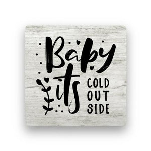 Baby It's Cold - Wood-Holiday-Paisley & Parsley-Coaster