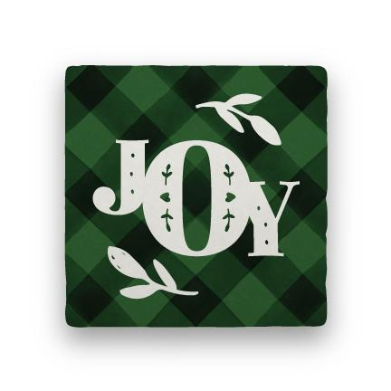 Joy 1 - Green-Holiday-Paisley & Parsley-Coaster