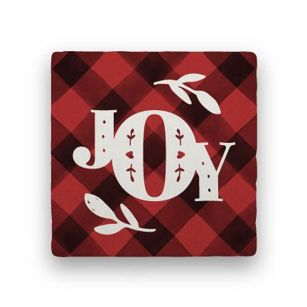 Joy 1 - Red-Holiday-Paisley & Parsley-Coaster